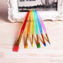 Yüksek Sınıf Boya Fırçası Çok Renkli Esnek Plastik Dayanıklı Zanaat Boyama Kalemler Kullanımlık Tırnak Fırçaları Kolu Taşınabilir Eko Dostu 2 8xq jj cheap eco friendly nail nereden çevre dostu çivi tedarikçiler