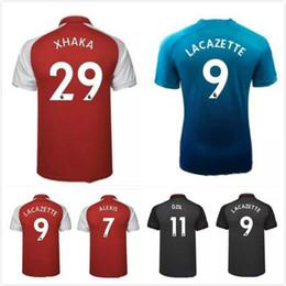Wholesale Fc Top - Top quality OZIL Soccer Jersey 2017-18 fc football shirt #7 ALEXIS #12 GIROUD #9 LACAZETTE Soccer Jerseys 2018 Mesut Ozil Soccer Wear