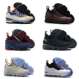 Wholesale Graffiti Sneakers - New Arrival 15 Air Mowabb Ghost Black History Month Cavs Equality Graffiti 2018 Male Basketball Shoes Sports Sneakers
