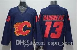 Wholesale Hot Johnny - Cheap Calgary Flames Mens 13 Johnny Gaudreau Hot Sale Best Quality White Red Black Blue Best Quality 100% Embroidery Ice Hockey Jerseys
