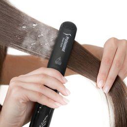 Argentina 98% de NOVEDAD Professional Steam Straightener Hair Styler-Ceramic Heating Plate-Dual Voltage-6 Level Setting 300 ° F-450 ° F Apagado automático Suministro