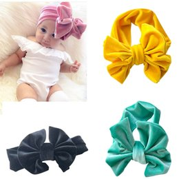 Wholesale Toddler Headband Headwrap - Baby Soft Head Band Big Headwrap Bow Headband For Winter Elastic Toddler Newborn Ear Warm For Gift