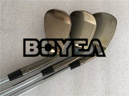 Wholesale left handed golf clubs - Left Hand BOYEA Golf Clubs SM7 Wedges Grey Golf Wedge Set 50 52 54 56 58 60 Degrees Steel Shaft With Head Cover