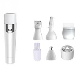 Máquinas para escovar o rosto on-line-5 Em 1 Portátil Elétrica Depilador Mulheres Máquina de Barbear Depilação Biquíni Mulheres Barbeador Navalha Trimmer Facial Cleansing Brush