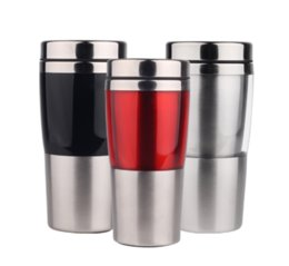 Wholesale Office Health - Eco Friendly Stainless Steel Mugs Coffee Cup Drink Flask Water Bottles Fashion Health Car Office Travel Mug Drinkware