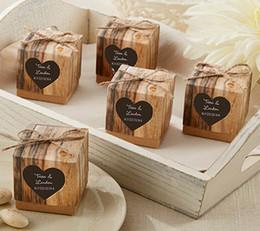 Caixas de decorações de casamento on-line-100 pcs Popular Caixa De Presente De Casamento Rústico Kraft Caixa Favor e Decoração Do Partido Presente para o Partido Caixa Favor