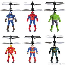 2019 giocattoli palla per gli uomini RC Elicottero RC induzione a infrarossi Captain America Hulk Spider-Man aeromobili RC palla volante giocattoli volanti giocattoli per bambini elicottero Led giocattoli sensore sconti giocattoli palla per gli uomini