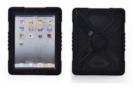 Pour iPad 6 Pepkoo Spider cas Militaire Heavy Duty Étanche À La Poussière Antichoc Tablette Étui En Plastique + Silicone Stand pour ipad air 2 ipad6 2017 ? partir de fabricateur