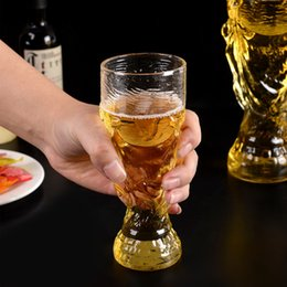 Wholesale folding wine glass - New Arrive World Cup bar glass Colorful Fashion DIY wine glass Unbreakable clear Rubber Wine Glass Folding cup wine glasses