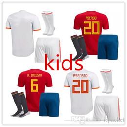 2018 copa del mundo de España Equipación para niños camisetas de fútbol  Kits de fútbol para niños uniformes con calcetines camisetas de futbol  MORATA ... c4a0c78abe82f