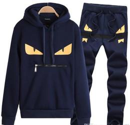 Wholesale Running Sweat Suit - 2018 Sweatshirts Sweat Suit Mens Hoodies Brand Clothing Men's Tracksuits Jackets Sportswear Sets Jogging Suits Hoodies Men