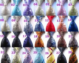 Wholesale Jacquard Purple Paisley Necktie - Men's Fashion New Casual Stripes Paisley Mix Color Jacquard Woven Silk Necktie Ties Men Business Wedding Party Ties ZP005