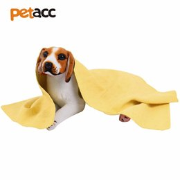 Wholesale white washcloths - Petacc 33.5''x13'' Fast Drying Pet Towel Super-absorbent Pet Grooming Wipes Soft PVA Washcloth, Suitable for Pets