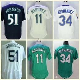 4f866ab186c Cheap Seattle Jerseys 11 Edgar Martinez 51 Randy Johnson 34 Felix Hernandez  Green White Grey Blue Stitched Baseball Jerseys