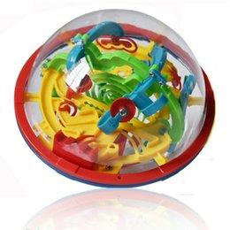 Chaude 100 Barrières Drôle 3D Puzzle Maze Ball Labyrinthe Magie intellectuelle balle Espace Intelligence orbit piste Stages de Jeu Enfants Jouet Cadeau DHL 18pcs ? partir de fabricateur