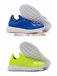 Argentina 2018 botines de fútbol para hombre X 18+ TR BOOST zapatos de fútbol botas de fútbol originales Zapatillas de entrenamiento zapatillas de deporte de alta calidad Suministro