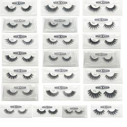 Wholesale lash boxes - 3D False Eyelashes 22 Styles Handmade Beauty Thick Long Soft Lashes Fake Eye Lashes Eyelash Gift Box Package 3001217