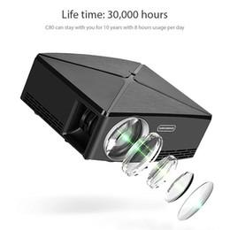 video player de entrada Desconto Mini Projetor de Vídeo Projetor LCD Filme Projetores de Suporte 1080 P USB / SD / AV / Entrada HDMI / VGA HD Projetor para DVD Player PS4 Xbox Home Theater