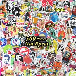 Vente chaude 500pcs / lot Cartoon Autocollants De Films Multi Design Random Musique Film Vinyle Skateboard Guitare Voyage Doodle Graffiti Decal Mignon ? partir de fabricateur