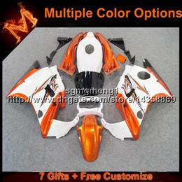 cbr verkleidung weiß orange Rabatt 23 farben + 8Geschenke orange weiß motorradverkleidungen für HONDA CBR600F2 1991-1994 CBR 600 91 92 93 94 Karosseriesatz ABS Kunststoffverkleidung