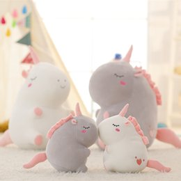 Wholesale teddy bear wholesalers quality - Cartoon Originality Unicorn Plush Doll Children Soft Fluffy Stuffed Unicornio Pillow Birthday Present For Children High Quality 40zp WW