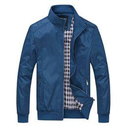 Plus Size Business Männer Jacke 2018 Herbst Mode Lässig Arbeit Windbreaker Slim  Fit Stehkragen Solide Langarm Mantel Coole Bomber Stil rabatt arbeitsjacke  ... 550f2c18a4