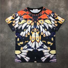 Wholesale tattoo clothes fashion - 2018 new fashion summer t shirt men o-neck cotton Flocking 3 D butterfly tattoo printing short sleeve mens t-shirt Men's Brand clothing