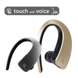 Ipad hook online-Q2 Ear Hook Auriculares Bluetooth Auriculares inalámbricos Touch Key Estéreo Deporte Música HD MIC Manos libres Auriculares para iPhone 8 X iPad Xiaomi Samsung