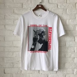 Wholesale rapper t shirts - Summer Hiphop Brand Designer Underground Rapper Printed Women Men T shirts tees Casual Loost Fit Men Cotton T shirt