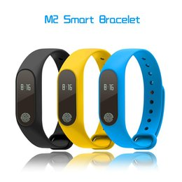 Wholesale Oximeter Ratings - M2 Smart Band Heartrate Blood Pressure Oxygen Oximeter Sport Bracelet Clock Monitor Bluetooth Fitness Tracker for iPhone 8 X Samsung