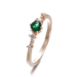 Микро бриллиантовое маленькое кольцо Европа и Соединенные Штаты мода простой классический женщины свадебные подарки розовое золото пять бриллиантовое кольцо от