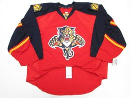 Wholesale Red Issues - Cheap Custom FLORIDA PANTHERS RED HOME TEAM ISSUED EDGE JERSEY GOALIE CUT 60 Mens Stitched Personalized hockey Jerseys