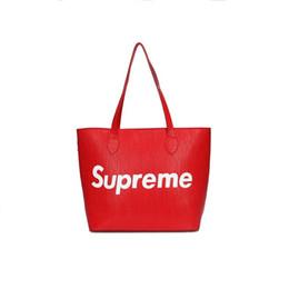 Wholesale New Style Fashion Ladies Handbags - Designer Handbags Women New Brand Bags Shoulder Bag Totes Women Fashion Red Black Bags Totes Bag Ladies PU Leather Handbag