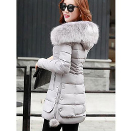 xl hair Coupons - Women are thickening in winter Hooded long Down jacket women Slim fit Heavy hair collar Cotton-padded clothes coat XXXL