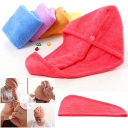 2019 übung bambus handtuch Magische schnelle trockene Haar-Duschkappen Microfiber-Tücher, die Turban-Verpackungs-Hut-Kappen-Badekurort-Badetuch-Hüte 5colors trocknen