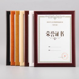 Wholesale Paint Wood Frames - Wall Mounted & Countertop Solid Wood Wooden Certficate Frames for Diploma,Certificate,Picture and Poster WP006