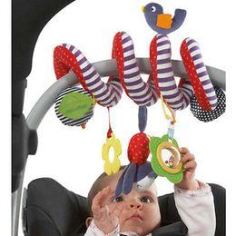 2019 crianças quebra-cabeça do relógio Atacado-Cute Baby Toy chocalhos recém-nascido carrinho de bebê carrinho de bebê pendurado Bell Mobile Musical Plush Educacional Plush Toys Kids Gifts