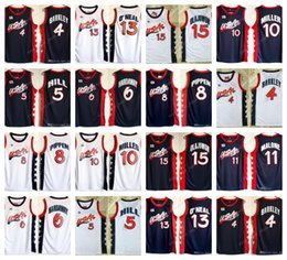 Wholesale usa pennies - NCAA 1996 USA Dream 4 Charles Barkley 6 Penny Hardaway 15 Hakeem Olajuwon 8 Scottie Pippen 11 Karl Malone College Baseketball Jerseys