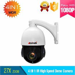 Caméra ptz analogique en Ligne-Caméra de surveillance PTZ de suivi automatique de sécurité HD 1080P AHD CVI TVI CVBS analogue 4in1 vitesse caméra dôme 27X zoom optique IP66 étanche