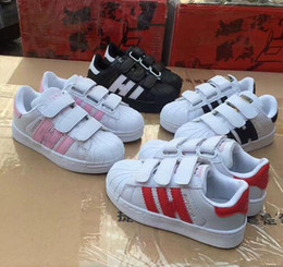 Wholesale baby closes - Hot Sale Fashion baby Casual Shoes Superstar Female Sneakers kids boys and girls Zapatillas Deportivas Mujer Lovers Sapatos Femininos