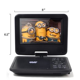 Vendita all'ingrosso di alta qualità 7 pollici Lettore DVD portatile 270 ° schermo LCD 3 ore di batteria ricaricabile, ragazze lettore DVD, regalo di compleanno per bambini supplier dvd gifts da regali dvd fornitori