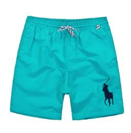 Wholesale nylon swim trunks - Wholesale summer men's shorts brand clothing swimsuit nylon men's beach shorts polo swim trunks 2018