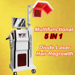 Wholesale Hat Brushes - Beauty Salon laser hair growth equipment hair laser hat cap comb brush 5 in 1 hair loss treatments machine 650nm diodes