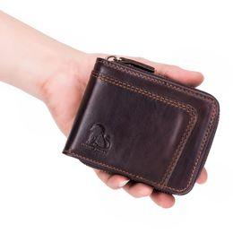 210a7ba95 2018 novo design dos homens bolsa carteira dos homens de couro genuíno  camada superior de couro de óleo de trabalho do vintage casual business mão -tecido