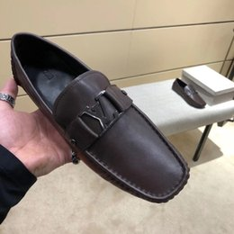 Argentina Top Classic diseñador de los hombres zapatos de conducción superstar 2018 moda Metal snap peas zapatos de trabajo de cuero zapatos de los hombres de alta calidad 11 supplier top snaps Suministro