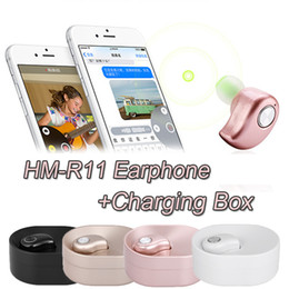 Wholesale Huawei Headphones - Wireless Bluetooth HM-R11 Earphone In-ear Headphone Earbuds Stereo Music Headset Hands-free with Microphone Charging Box For Huawei Samsung