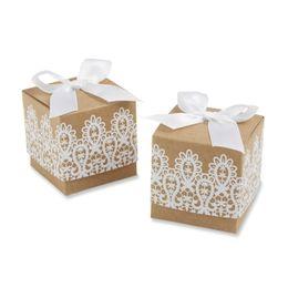 Deutschland (120 Teile / los) Einzigartige hochzeit box von Rustikalen Spitze Kraft Hochzeit Gunsten Box für Hochzeit Dekoration süßigkeiten begünstigt und kuchen box Versorgung