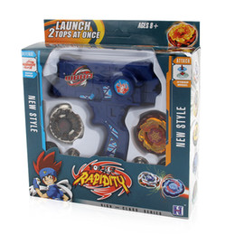 Wholesale Fusion Plate - Classic toys metal fusion spinning top gyroscope 2 beyblade for sale alloy gyro plate kit sets Metal Spinning Beyblade Sets