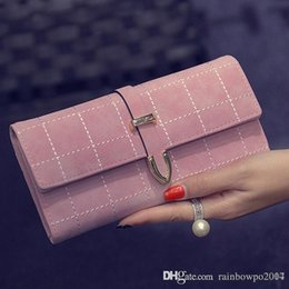 Wholesale Arrow Holder - factory sales Europe scrub seventy percent off Wallet Purse New Retro trend Plaid arrow wallet seventy percent off womens card package