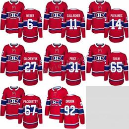 drouin jersey Desconto Montreal Canadiens 11 Brendan Gallagher Jersey 2017 2018 Nova Temporada 27 Alex Galchenyuk Camisas 14 Tomas Plekanec 92 Jonathan Drouin Vermelho